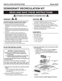 Non-Duct Recirculation Kit - Installation Instructions (2 MB)