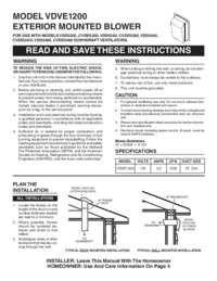 VDVE1200 - 1200 CFM Exterior Power Ventilator - Installation Instructions (291 KB)