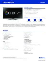 TV JS7000 SpecSheet 6 17 15