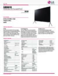 UB9810 Spec Sheet