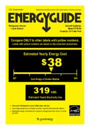 CP351W Energy Guide