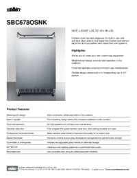 Brochure SBC678OSNK