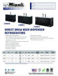 Direct Draw Beer Dispenser   Competitor Series