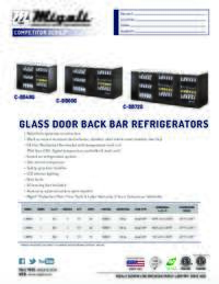 Glass Door Back Bar   Competitor Series