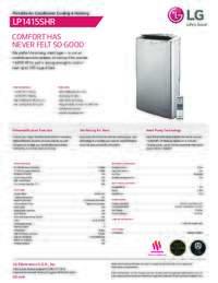 LP1415SHR spec sheet