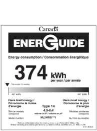 Marvel Undercounter 24 Inch Refrigerator Freezer Cresent Ice Maker MaxStore Bin Energy Guide   Canada ML24RI