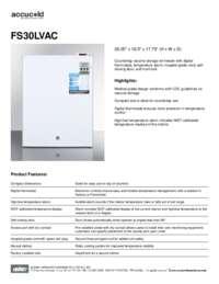 Brochure FS30LVAC