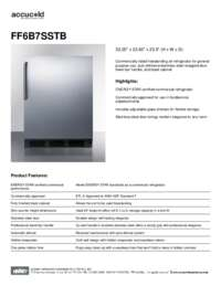Brochure FF6B7SSTB