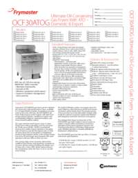Frymaster FPGLX30CA.SpecSheet