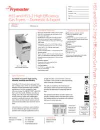 Frymaster PH155.SpecSheet