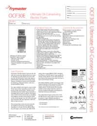 Frymaster FPEL114C.SpecSheet