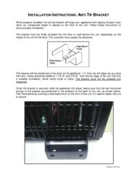 Anti tip bracket instructions for warming and cooling combinations