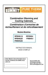 Warming and Cooling Combination Units User Manual