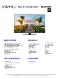 SLED5018 Spec Sheet