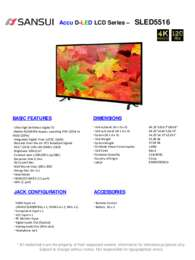 SLED5516 Spec Sheet
