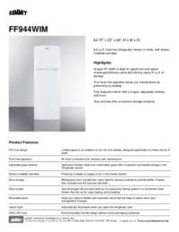 Brochure FF944WIM