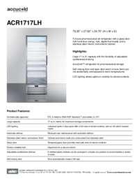 Brochure ACR1717LH