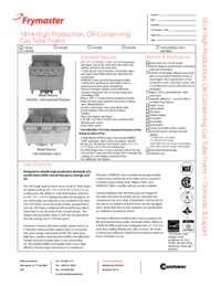 Frymaster 11814G.SpecSheet