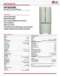 LFCS22520 Spec Sheet