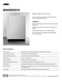 BI605BSSVH spec sheet