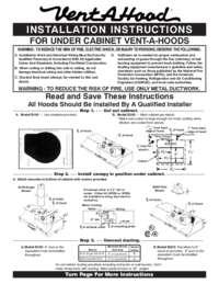 Under Cabinet Installation Instructions