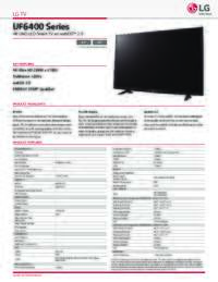 UF6400 Spec Sheet