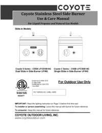 2014 coyote side burner manual