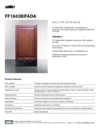 FF1843BIFADA Spec Sheet