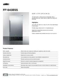 Brochure FF1843BSS