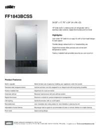 Brochure FF1843BCSS