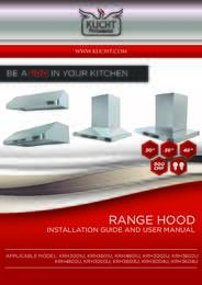 Kucht Hoods Installation and User Manual