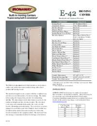 Product Brochure Sheet