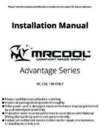 MRCOOL Advantage Install Manual Full 4web