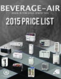 Beverage Air 2015 Price List
