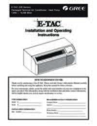 Gree ETAC Owner Manual