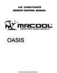 MrCool Oasis Remote 4web