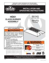 Glass Burner Manual