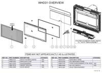 WHD31 Overview Parts List