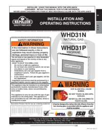 WHD31N and WHD31P Manual