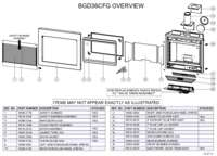 BGD36CFG Overview Parts List