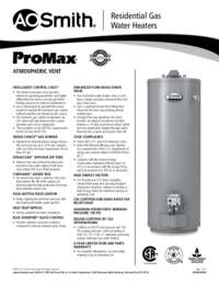 ProMax® Atmospheric Vent Spec Sheet