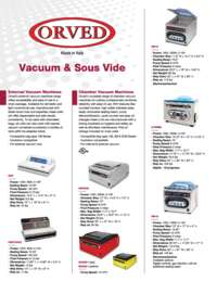 Orved Spec Sheet English