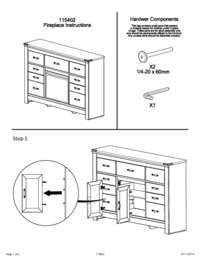 Dresser with Fireplace Option Assembly