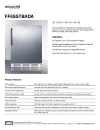 Brochure FF6SSTBADA
