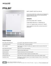 Spec Sheet   FF6LBI7