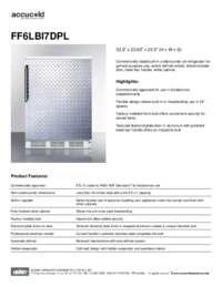 Spec Sheet   FF6LBI7DPL