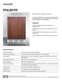 Spec Sheet   FF6LBI7FR