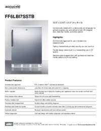 Spec Sheet   FF6LBI7SSTB