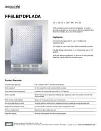 Spec Sheet   FF6LBI7DPLADA