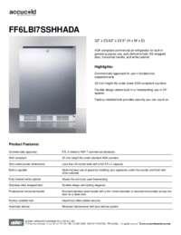 Spec Sheet   FF6LBI7SSHHADA